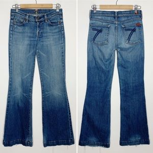 7 for all Mankind DOJO flare low rise jeans